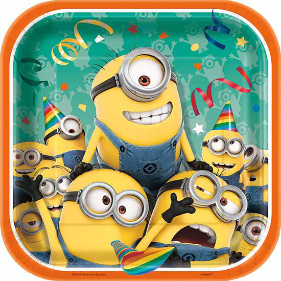 DESPICABLE ME DESSERT PLATE (96/CS) PARTY SUPPLIES