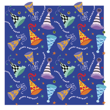 Click for larger picture of DISCONTINUED FESTIVE BDAY HATS GIFT WRAP PARTY SUPPLIES