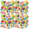 BIRTHDAY BALLOONS GIFT WRAP (5') PARTY SUPPLIES