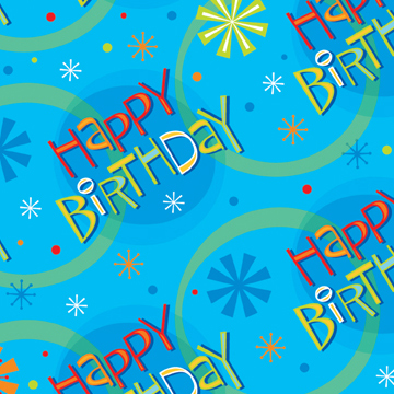 Click For Larger Picture Of STELLAR BIRTHDAY GIFT WRAP ROLL 12 CS PARTY