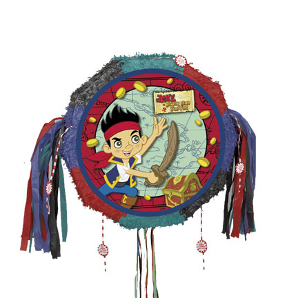 Click for larger picture of DISCONTINUED JAKE NEVERLAND PULL PINATA PARTY SUPPLIES