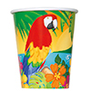 DISCONTINUED TROPICAL ISLAND CUP PARTY SUPPLIES
