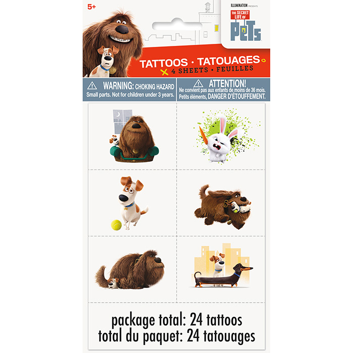 Click for larger picture of DISCONTINUED SECRET PETS TATTOOS PARTY SUPPLIES