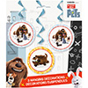 DISCONTINUED SECRET PETS SWIRL DECORATN PARTY SUPPLIES