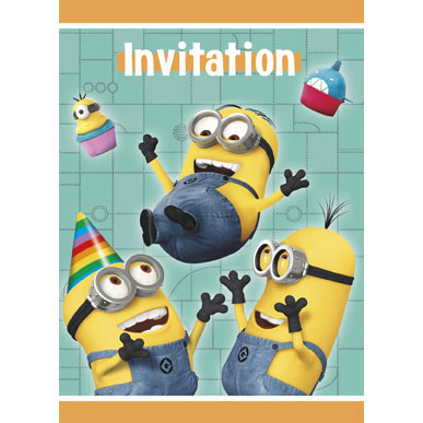 Click for larger picture of DESPICABLE ME 2 INVITATIONS PARTY SUPPLIES