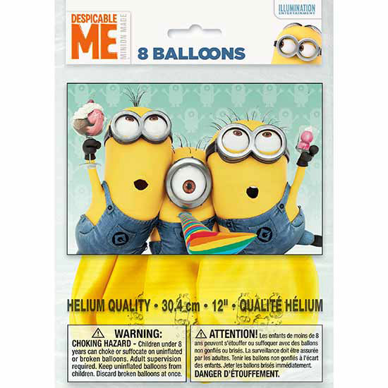 DESPICABLE ME LATEX BALLOON (96/CS) PARTY SUPPLIES