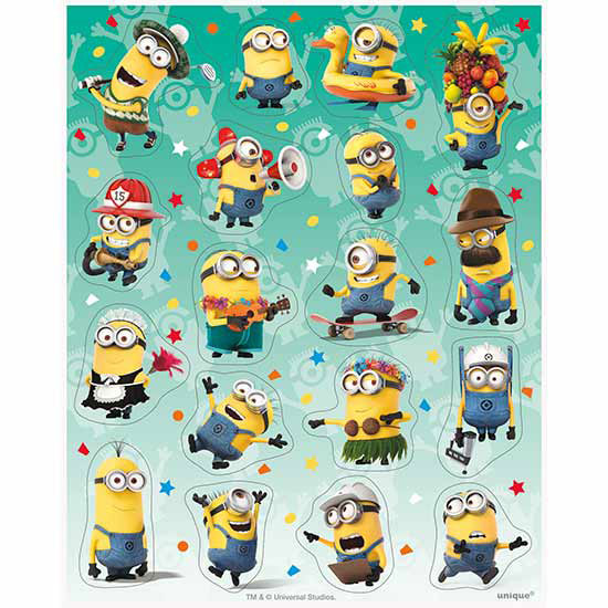 DESPICABLE ME - MINIONS STICKER SHEET PARTY SUPPLIES
