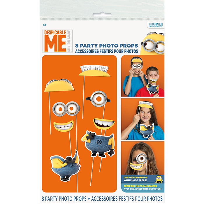 DESPICABLE ME - MINIONS PHOTO BOOTH PROP PARTY SUPPLIES