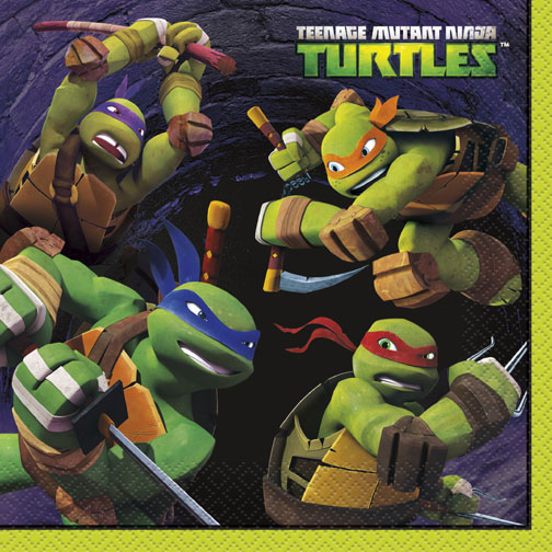 Click for larger picture of DISCONTINUED TM TURTLES LUNCH NAPKINS PARTY SUPPLIES