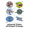 DISCONTINUED PLANES TEMPORARY TATTOOS PARTY SUPPLIES