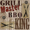 DISCONTINUED GRILL MASTER BEVERAGE NAPK PARTY SUPPLIES