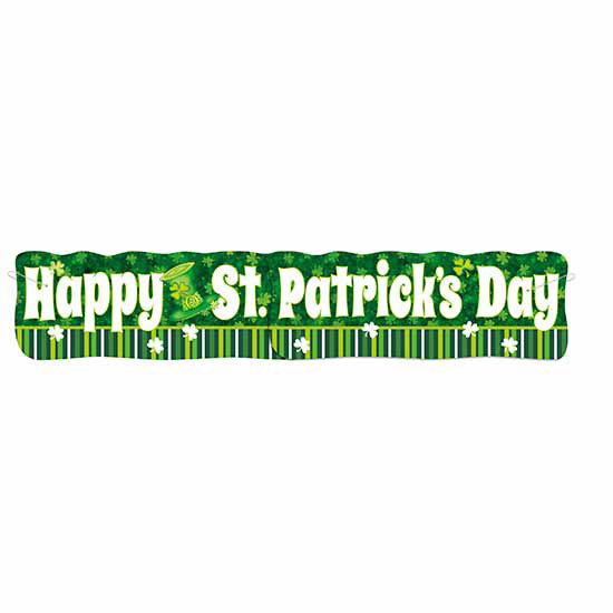 LUCKY STRIPES JOINTED BANNER (6/CS) PARTY SUPPLIES