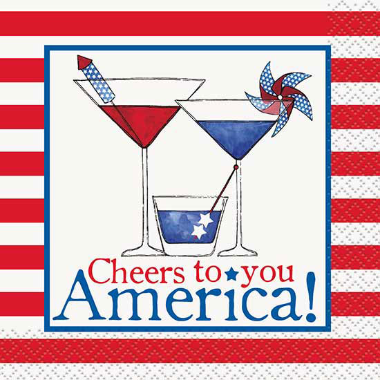 CHEERS TO AMERICA BEV NAPKIN (192/CS) PARTY SUPPLIES