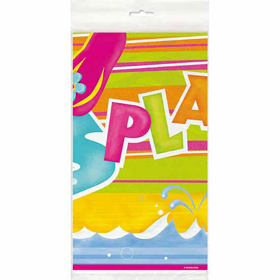 DISCONTINUED POOL PARTY TABLECOVER PARTY SUPPLIES