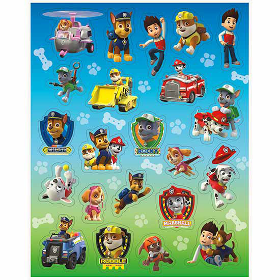 PAW PATROL STICKER PARTY SUPPLIES