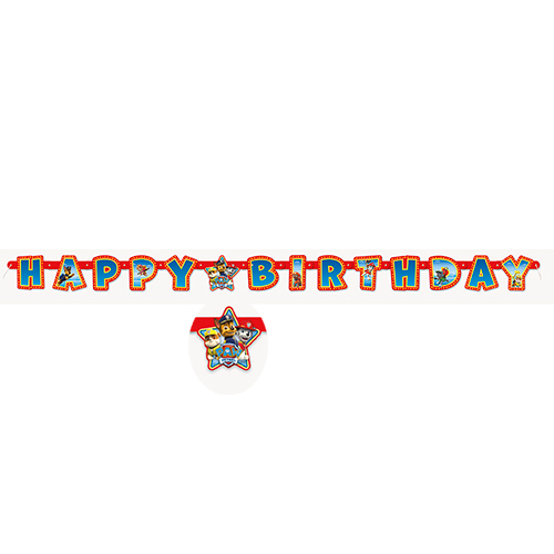 PAW PATROL JOINTED BANNER PARTY SUPPLIES