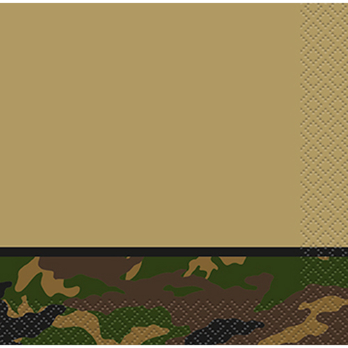 MILITARY CAMO BEVERAGE NAPKIN PARTY SUPPLIES