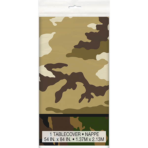 MILITARY CAMO TABLECOVER PARTY SUPPLIES