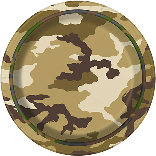 MILITARY CAMO DESSERT PLATE PARTY SUPPLIES