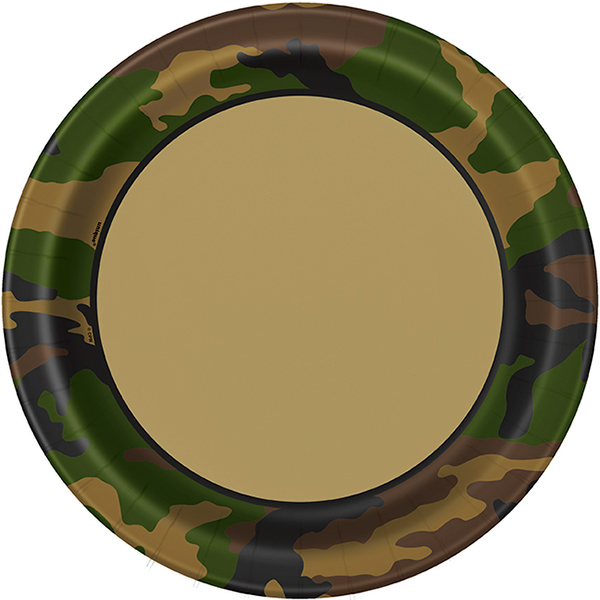 MILITARY CAMO DINNER PLATE PARTY SUPPLIES