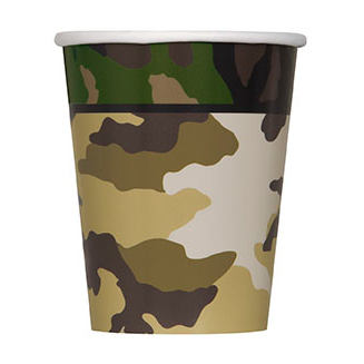 MILITARY CAMO HOT-COLD CUP PARTY SUPPLIES