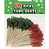 RED-GREEN FRILL PICK (600/CS) PARTY SUPPLIES