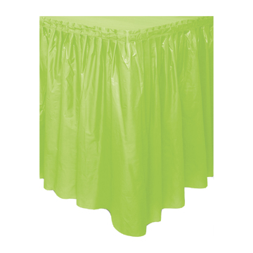 Click for larger picture of DISCONTINUED LIME GREEN TABLESKIRT PARTY SUPPLIES
