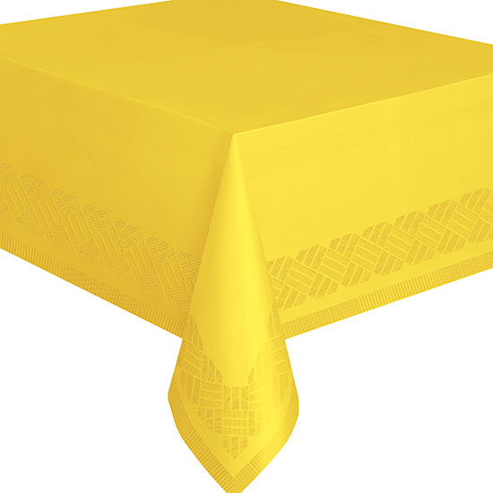 YELLOW 54X108 IN PAPER TABLECOVR (12/CS) PARTY SUPPLIES  sc 1 st  Party Supplies & bulk solid colored plates u0026 napkins party supplies - bulk yellow ...