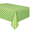 LIME GREEN DOTS TABLECOVER PARTY SUPPLIES