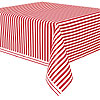 RED STRIPE TABLECOVERS PARTY SUPPLIES