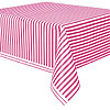 HOT PINK STRIPE TABLECOVERS PARTY SUPPLIES