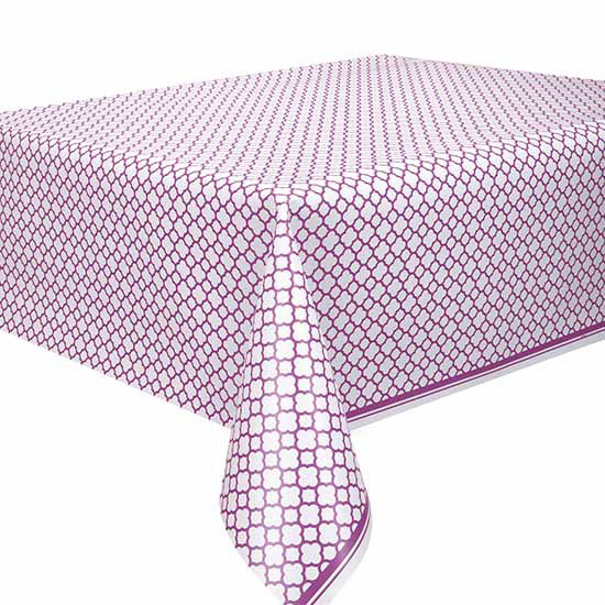 DISCONTINUED PURPLE QUATREFOIL TABLECOVR PARTY SUPPLIES