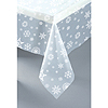 CLEAR SNOWFLAKES PLAS TABLECOVER (12/CS) PARTY SUPPLIES