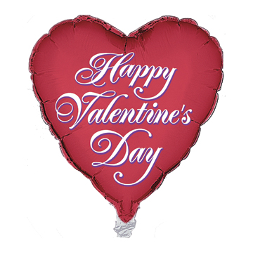 HAPPY VALENTINE'S DAY FOIL HEART BALLOON PARTY SUPPLIES