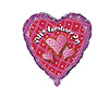 DISCONTINUED HEARTS VALENTINE MYLAR BLLN PARTY SUPPLIES
