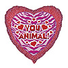 DISCONTINUED HEART YOU ANIMAL MYLR BALLN PARTY SUPPLIES