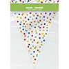 RAINBOW POLKA DOT FLAG BANNER PARTY SUPPLIES