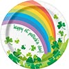 RAINBOW SHAMROCK DESSERT PLATE (96/CS) PARTY SUPPLIES