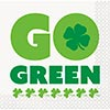 GO GREEN BEVERAGE NAPKIN (192/CS) PARTY SUPPLIES
