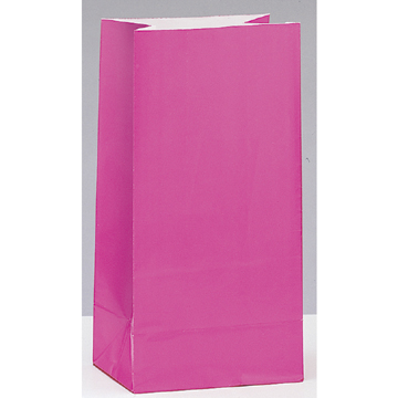 Click for larger picture of PAPER PARTY BAGS PINK (144/CS) PARTY SUPPLIES