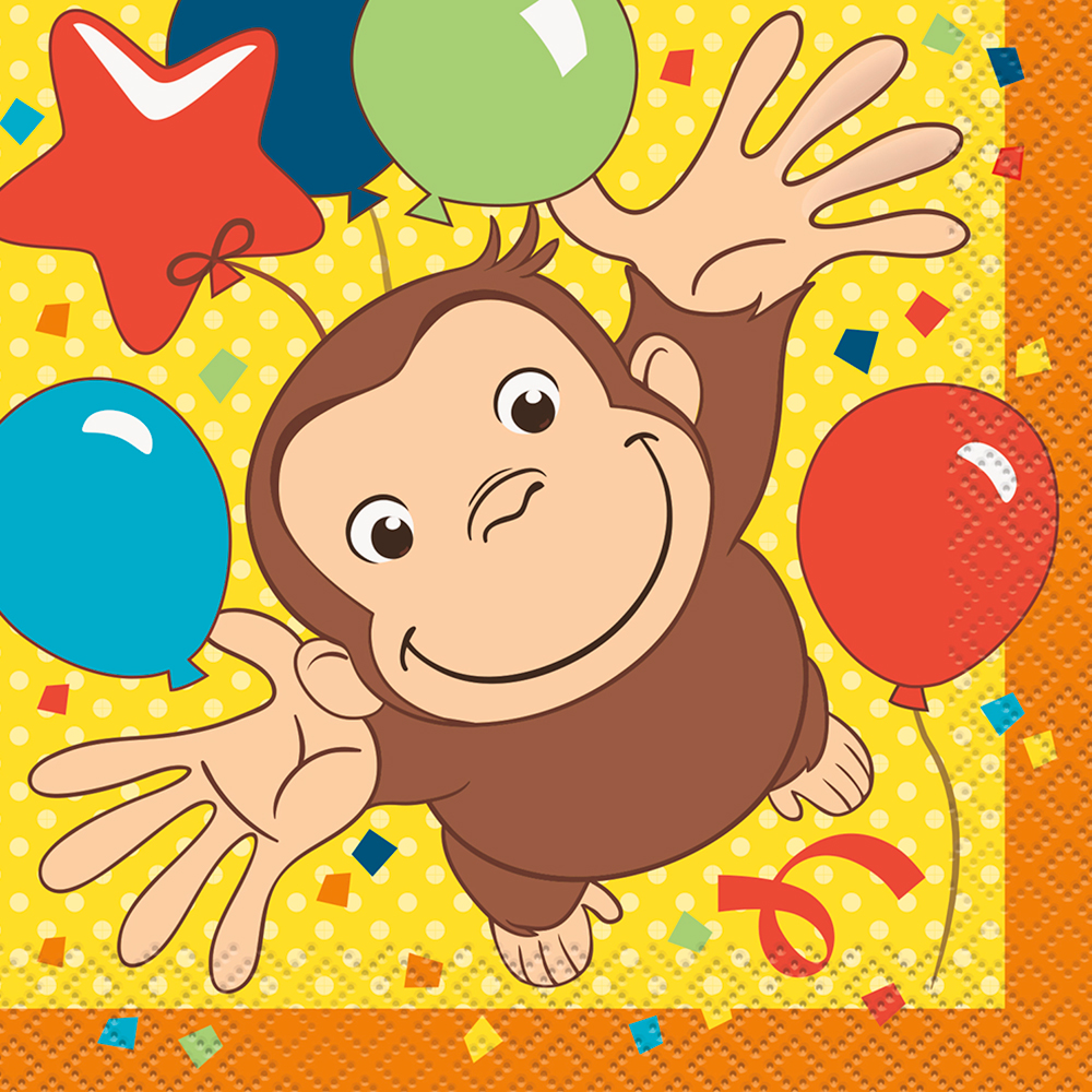 Click for larger picture of CURIOUS GEORGE BEVERAGE NAPKIN (192/CS) PARTY SUPPLIES