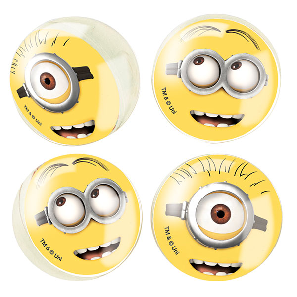 Click for larger picture of DESPICABLE ME BOUNCE BALL FAVORS (24/CS) PARTY SUPPLIES