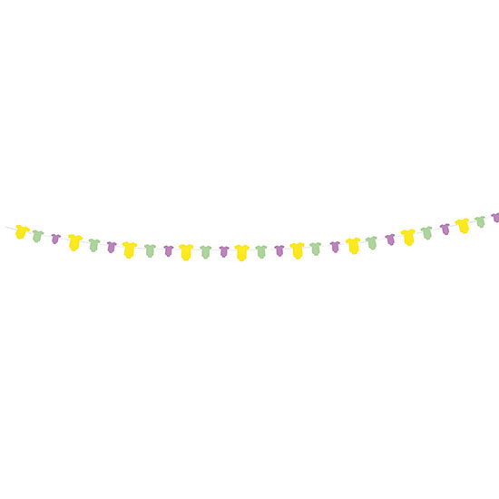 DISCONTINUED ONESIE BABY GARLAND PARTY SUPPLIES