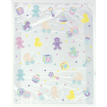 larger picture of lrg cello bags baby shower 24 cs party supplies