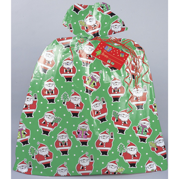 Click For Larger Picture Of Santa Jumbo Gift Sack Party Supplies