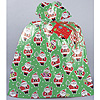 JUMBO CMAS SANTA PLASTIC GIFTBAG (12/CS) PARTY SUPPLIES