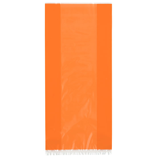 ORANGE CELLOPHANE BAGS 30/PK PARTY SUPPLIES