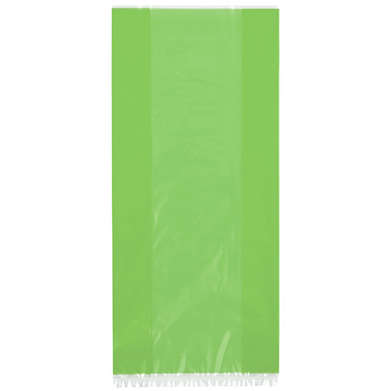 LIME GREEN CELLO BAGS (360/CS) PARTY SUPPLIES