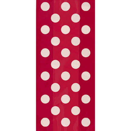 Click for larger picture of RUBY RED DOTS CELLO BAGS PARTY SUPPLIES
