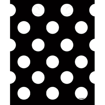 Click for larger picture of DISCONTINUED BLACK DOTS LOOT BAGS PARTY SUPPLIES